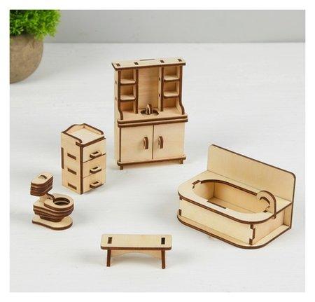 Набор мебели для кукол Ванная  Лесная мастерская