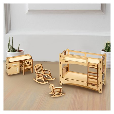 Набор мебели для кукол Детская  Лесная мастерская