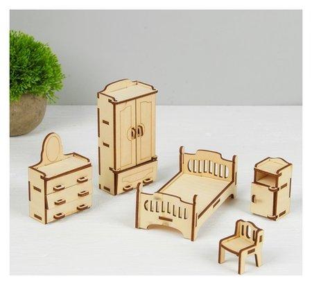 Набор мебели для кукол Спальня  Лесная мастерская