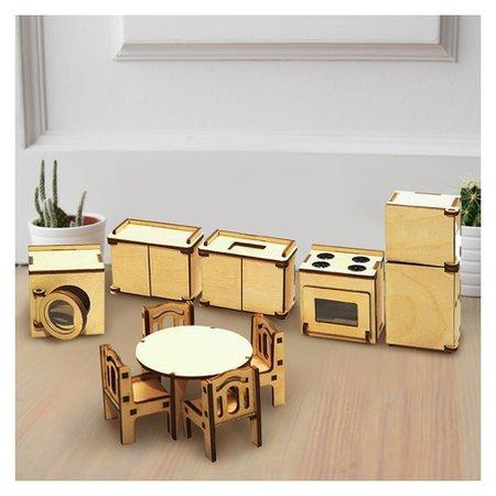 Набор мебели для кукол Кухня  Лесная мастерская