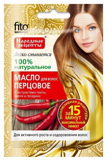 """Масло для волос """"Перцовое"""" с экстрактами пихты, хмеля и гвоздики  Фитокосметик"""