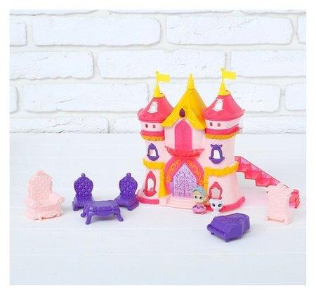 Замок для кукол, с аксессуарами, световые и звуковые эффекты  КНР Игрушки