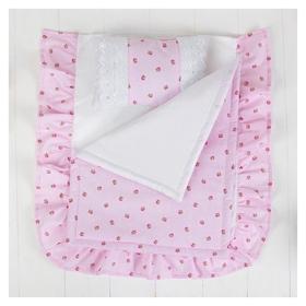 Постельное бельё для кукол Розочки, простыня, одеяло, подушка