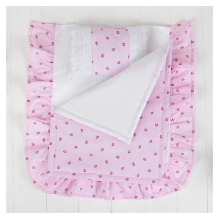 Постельное бельё для кукол Розочки, простыня, одеяло, подушка  Страна Карнавалия