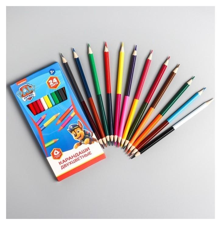 Карандаши цветные 24 цвета  Paw patrol