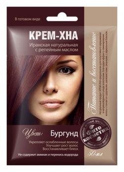 """Крем-хна в готовом виде """"Бургунд"""" с репейным маслом"""