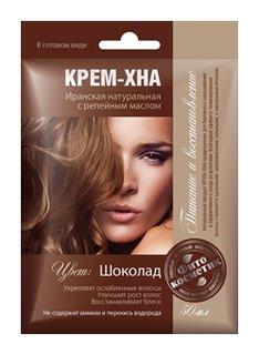 """Крем-хна в готовом виде """"Шоколад"""" с репейным маслом  Фитокосметик"""