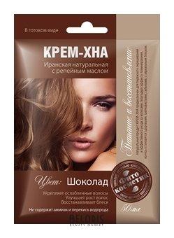Купить Хна для волос Фитокосметик, Крем-хна в готовом виде Шоколад с репейным маслом, Россия