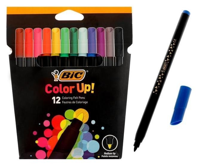 Фломастеры 12 цветов Color Up  BIC