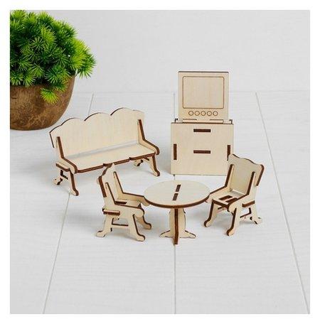 Конструктор Гостиная набор мебели для кукол, 6 позиций  Теремок