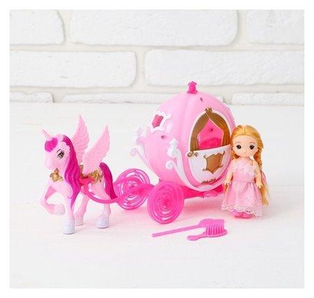 Карета для кукол, с малышкой  КНР Игрушки