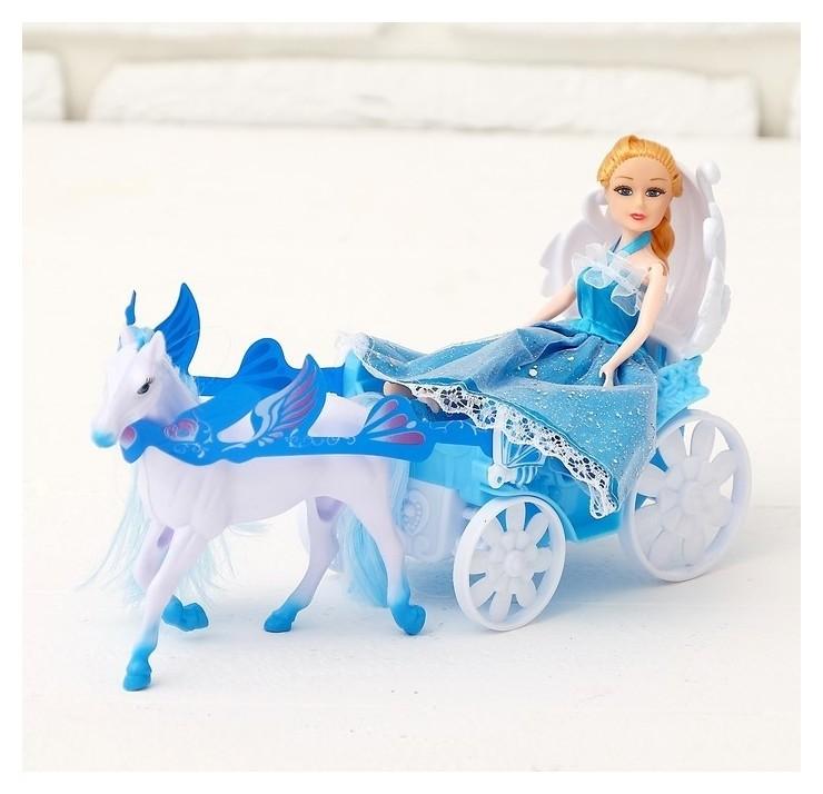 Карета для кукол Волшебная карета с куклой  Happy Valley