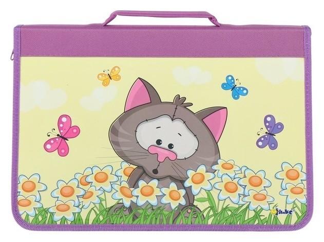 Папка для труда Котёнок в ромашках  Оникс