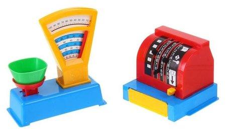 Набор игровой Магазин, весы и касса  Пластмастер