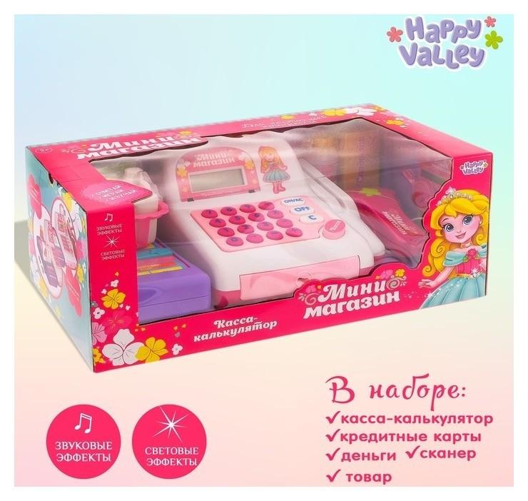 Касса-калькулятор Поиграем в магазин-1 с аксессуарами  Happy Valley