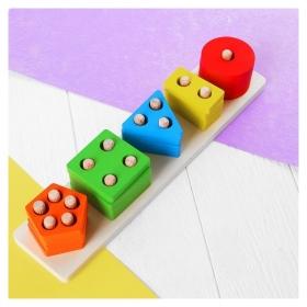Пирамидка логическая Цвет и форма