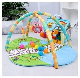 """Развивающий коврик """"Домик для игрушек"""" с дугами"""