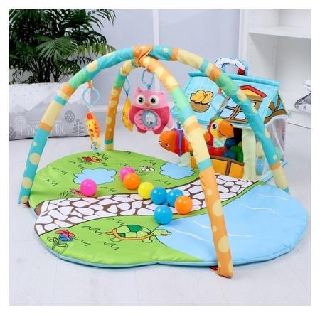"""Развивающий коврик """"Домик для игрушек"""" с дугами  КНР"""