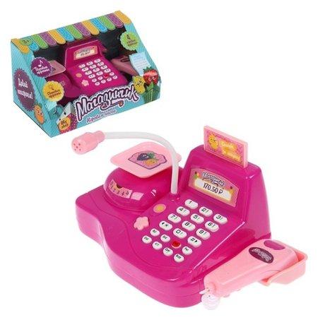 Игровой набор касса Магазинчик, с аксессуарами, световые и звуковые эффекты  Zabiaka