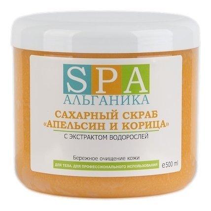 """Сахарный скраб """"Апельсин и корица""""  Альганика"""