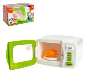 Микроволновая печь игрушечная Мини-дом, световые эффекты, подставка вращается