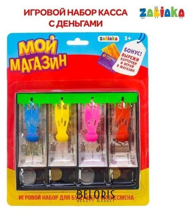 Игровой набор Мой магазин: пластиковая касса, монеты, деньги (рубли) Zabiaka