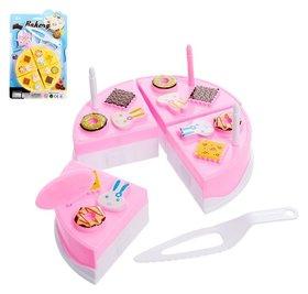 Игровой набор для резки Мини тортик, с аксессуарами