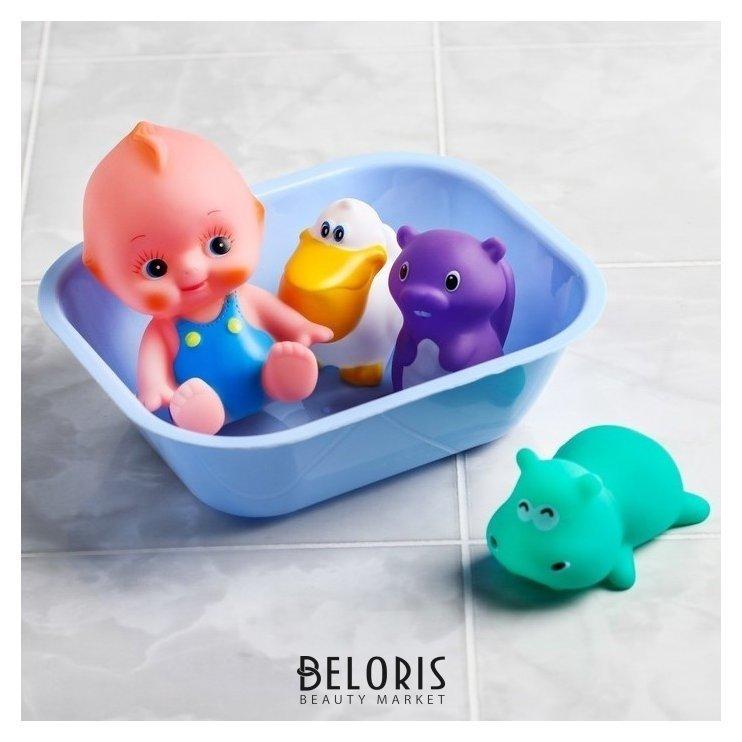 Набор игрушек для купания Пупс + 3 игрушки Крошка Я