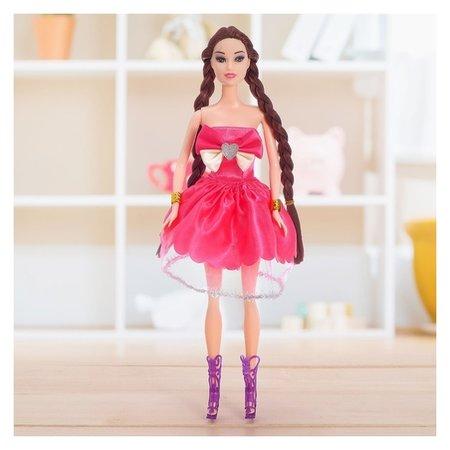 Кукла модель Лера в платье с косой  КНР Игрушки