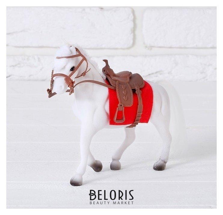Лошадь флок с аксессуарами микс КНР Игрушки