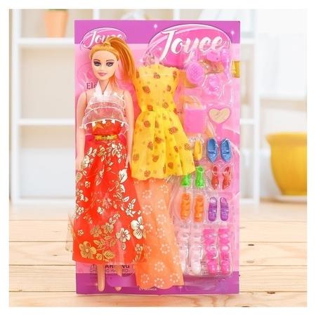 Кукла модель Оля с набором платьев, обуви и аксессуарами  КНР Игрушки