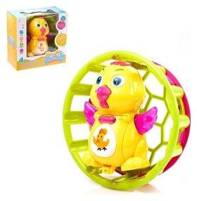Развивающая игрушка «Уточка в колесе», световые и звуковые эффекты