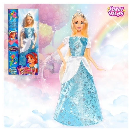 Кукла Сказочная принцесса - история о хрустальной туфельке  Happy Valley