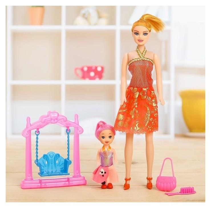 Кукла-модель Оля с малышкой и аксессуарами  КНР Игрушки