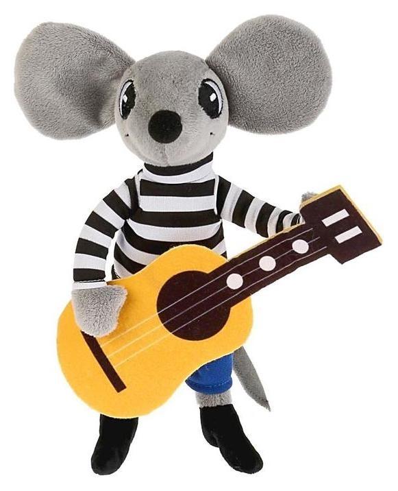 Мягкая игрушка Мышонок с гитарой  Мульти-пульти