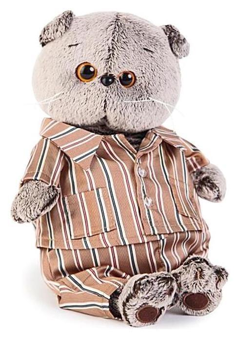 Мягкая игрушка Басик в шёлковой пижамке 19 см Басик и Ко