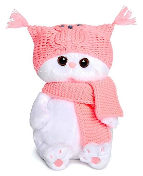 Мягкая игрушка Ли-Ли Бэби в шапке-сова и шарфе 20 см  Басик и Ко
