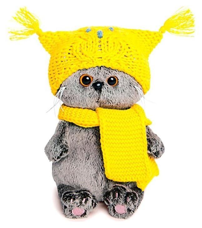 Мягкая игрушка Басик Бэби в шапке-сова и шарфе 20 см  Басик и Ко
