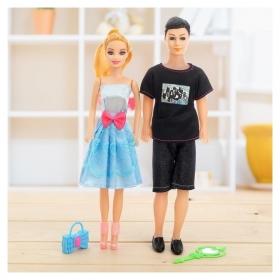 Набор кукол Семья с аксессуарами