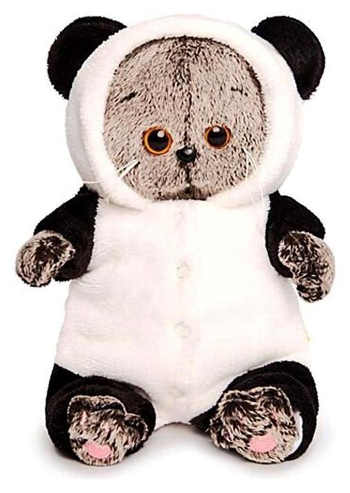 Мягкая игрушка Басик BABY в комбинезоне панда, 20 см  Басик и Ко