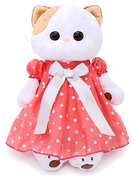 Мягкая игрушка Ли-Ли в платье в горошек 24 см  Басик и Ко