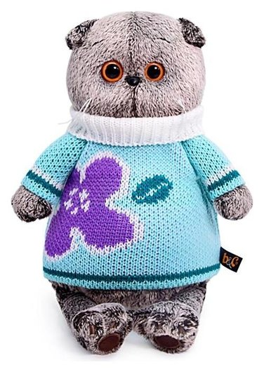 Мягкая игрушка Басик в весеннем свитере 22 см  Басик и Ко