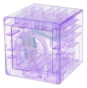 Головоломка Кубический лабиринт, копилка с денежкой, 9х9х9 см