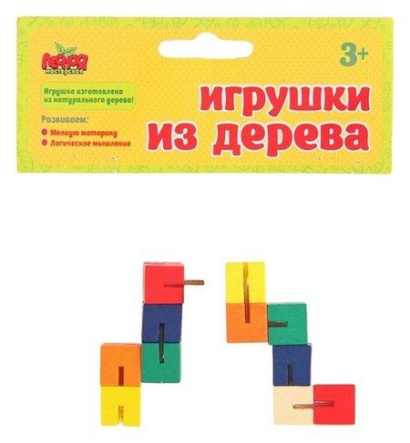 Головоломка Змейка - кубики  Лесная мастерская