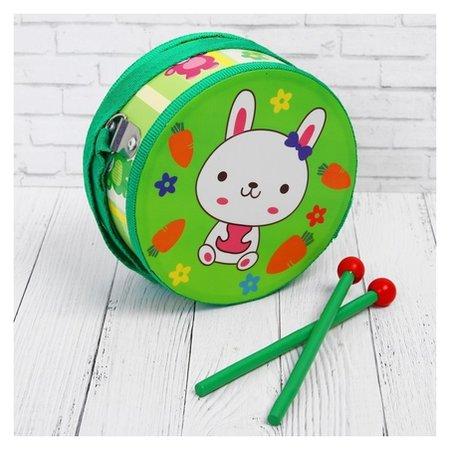 Музыкальная игрушка «Барабан», с рисунком, цвета микс, бумажная мембрана  Лесная мастерская