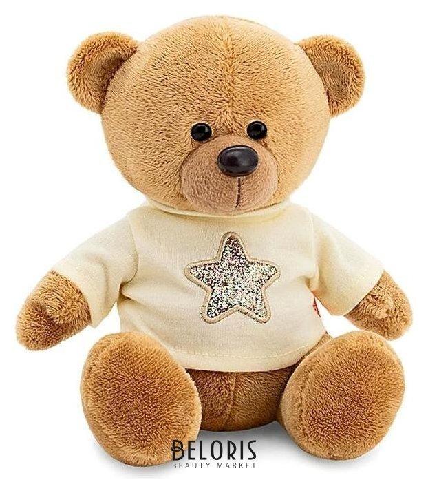 Мягкая игрушка Медведь Топтыжкин в бежевой рубашке 17 см Orange toys