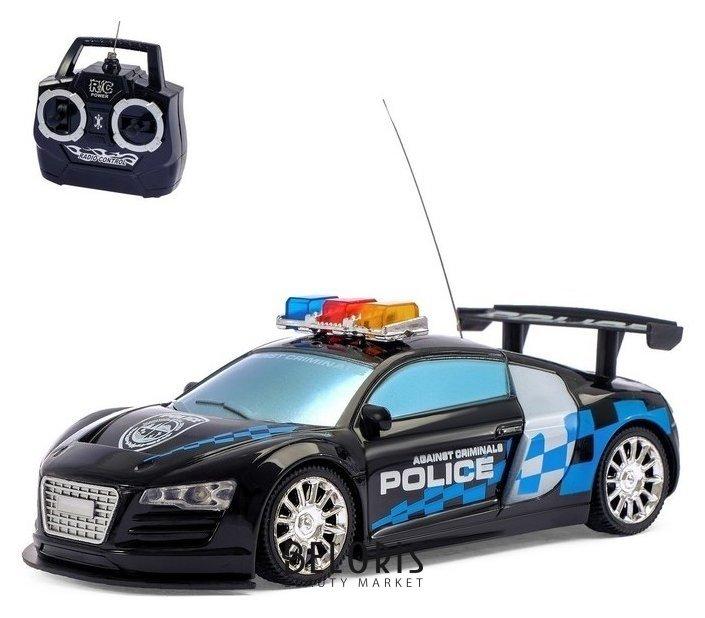 Машина радиоуправляемая Полиция, цвет чёрный КНР Игрушки