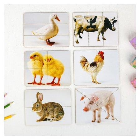 Разрезные картинки Домашние животные  Smile Decor