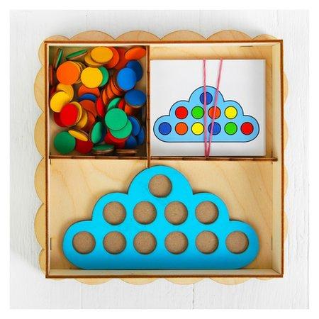 Развивающая игрушка Умное облачко, d кружков (60 шт.): 2 см, в наборе 15 карточек  Smile Decor