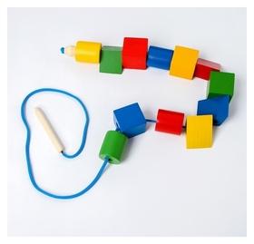 Шнуровка Разноцветные геометрические фигуры